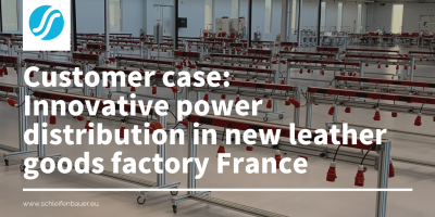 Innovative power distribution in new Arco France leather goods factory